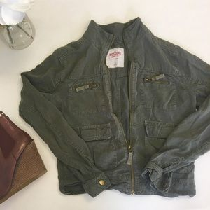 Missimo Army Green Crop Utility Jacket-XS